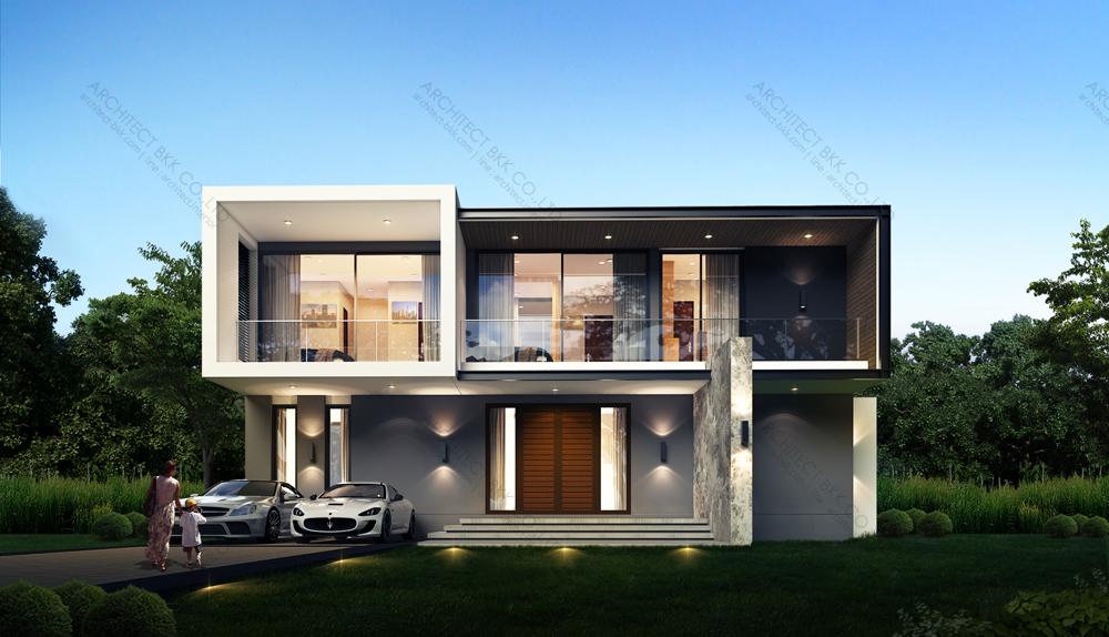 ผลงานออกแบบบ้าน